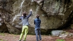 Adam Ondra and Stefano Ghisolfi free Magic Line at Gramitico 2018