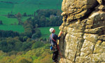 Froggatt Edge, rock climbing in England