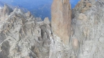Cosmiques Arête rockfall on Mont Blanc