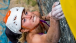 Federica Mingolla and Marcello Bombardi win the rock climbing competition at Valgrisenche