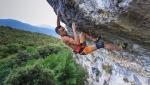 Eric Albertini frees Infinity 9a, the longest climb at Pueblo, Massone Arco