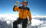 Hans Kammerlander con il Mount Tyree primo sulle Second Seven Summit