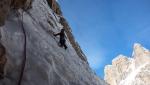 Tigersoft, new winter climb in Brenta Dolomites