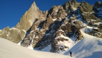 Les Drus: Triple Couloir tracked by Julien Herry, Laurent Bibollet