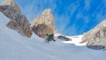 New ski descent in Brenta Dolomites on Pietra Grande