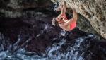 Julia and Jernej Kruder Deep Water Solo climbing at Mallorca