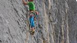 Alessandro Larcher si aggiudica Silverado in Val di Tovel, Dolomiti di Brenta