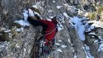 Via Xena, nuova via di misto sul Primo Apostolo, Piccole Dolomiti
