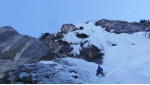 Ice climbing in Val Pramper, Dolomites: new mixed route La Piccola Sgualdrina