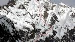 Cima Scarpacò NW Face, Dallavalle brothers complete demanding ski descent