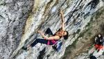 Francesca Medici climbs her first 8c at Covolo, Italy