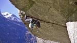 Caterina Bassi ripete Turkey crack, la difficile fessura di arrampicata trad a Cadarese