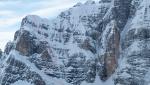 Cima De Falkner del Sorapiss in Dolomiti con gli sci