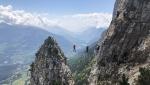 Via ferrata delle Aquile Cima Paganella, Trentino, Italy