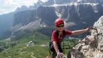 Via Ferrata Piccolo Cir nel gruppo Puez Odle in Dolomiti
