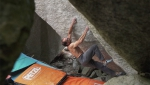 Bernd Zangerl frees top boulder problem in Valle dell'Orco