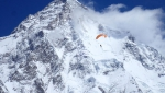 Max Berger summits Broad Peak, paraglides from Camp 3