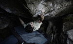 Paul Robinson climbs Il Trill Fb8c at Magic Wood, Switzerland