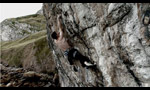 Pete Robins ripete Sea of Tranquility 8c+ a Lower Pen Trwyn