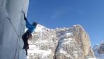Dolomites ice climbing: Val Lasties Solo per un altro Hashtag integritas