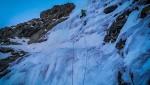 Valsertal in Austria, Raphaela Haug e Martin Schidlowski salgono Catwalk sulla Hohe Warte