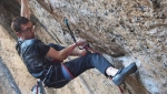 Will Bosi climbs his first 9b, La Capella at Siurana in Spain