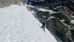 Julien Herry e Yannick Boissenot, nuova discesa con gli sci e snowboard sull'Aiguille du Peigne, Monte Bianco