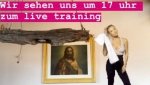 Tamara Lunger home training