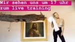 Tamara Lunger home training