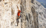 Quo Vadis, new route by Tondini and Irsara on Sass dla Crusc, Dolomites