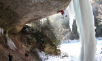 Grotta del Lupo, drytooling in the Dolomites