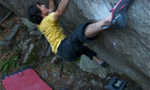 Paul Robinson tops Meadowlark Lemon, an 8C boulder problem in Nevada
