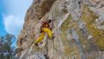 L'arrampicata alla Rocca di Oratino in Molise