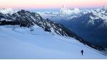 Täschhorn Diretta Nord Ovest: la discesa con gli sci di Cristian Botta e Davide Terraneo