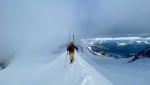 Punta Parrot e la discesa con gli sci della via Cavanna Gabbio