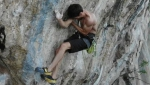 Stefano Ghisolfi climbing The Bow at Arco, Italy