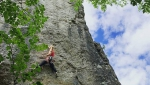 Madeleine Cope and Emma Twyford climb E9 in England and Wales