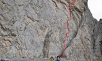 Bereziartu and Otegui free Super Weissmuller 8a/8a+ on Petit Pic De Ansabere