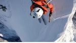 North Face of Chaperon first ski descent by Paul Bonhomme, Xavier Cailhol