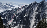 Petit Mont Blanc, ENE Face descent