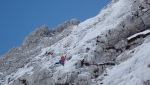 Sul Cimon di Palantina in Alpago ancora due nuove vie di ghiaccio e misto