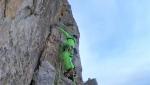 Simon Gietl in solitaria invernale sul Grande Muro del Sass de la Crusc