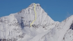 Mount Nelson first ski descent in Canada by Christina Lustenberger, Ian McIntosh