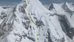 Mount Dunkirk in Canada skied by Christina Lustenberger, Ian McIntosh, Nick McNutt