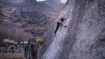 Hannah Meul climbing Auf leisen Pfoten in Val Bavona