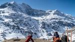 Combin de la Tsessette, Svizzera, parete est discesa con gli sci da Paul Bonhomme e Vivian Bruchez
