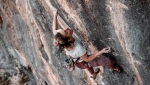 Claudia Ghisolfi grand on Noia 8c+ at Andonno