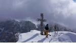 Sassopiatto, Hermann Comploj scia una nuova variante sulla parete nordest