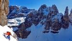 Big new winter climb on Cima Tosa in Brenta Dolomites by Andreozzi, Faletti, Padros