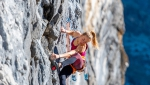 Val Sapin Tiro Leader climbing challenge above Courmayeur in Valle d'Aosta